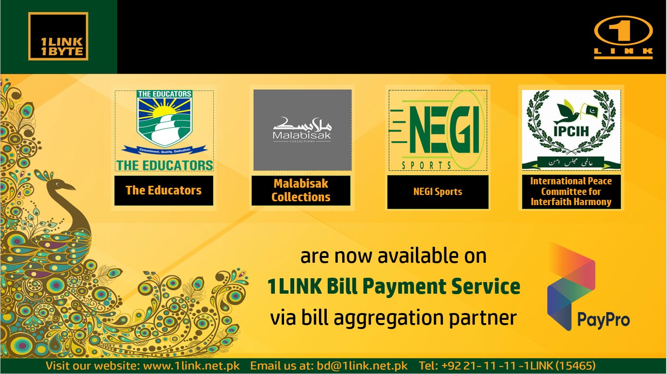 Addition of new sub-billers on 1LINK Bill Payment Service via PayPro