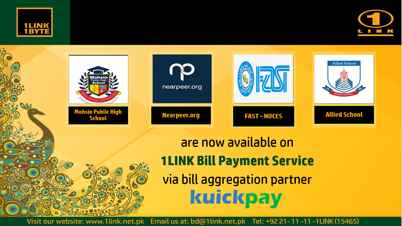 Addition of new sub-billers on 1LINK Bill Payment Service via Kuickpay