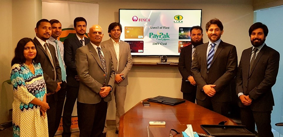 FINCA and 1LINK unveil Pakistan's first PayPak EMV Card, personalized by 1LINK