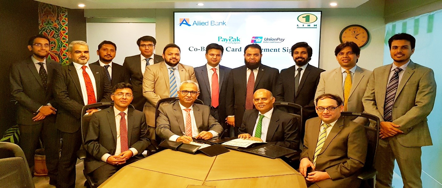 First PayPak-UnionPay Co-Badged Signing Agreement between ABL & 1LINK