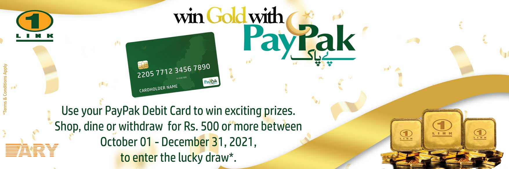 Win Gold with PayPak
